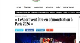« L'eSport veut être en démonstration à Paris 2024 »